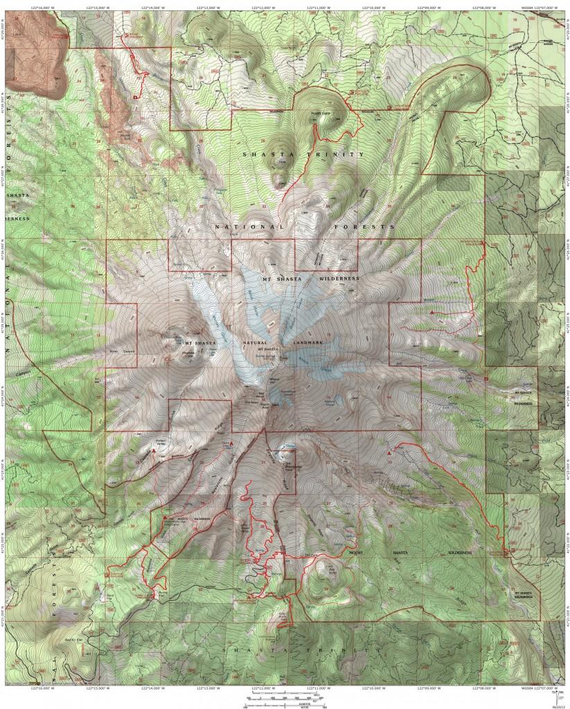 Mount Mt Shasta Northern California Trails Cascade Range