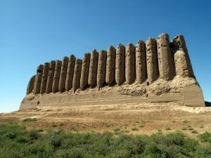 The ancient city of Merv in modern day Turkmenistan.