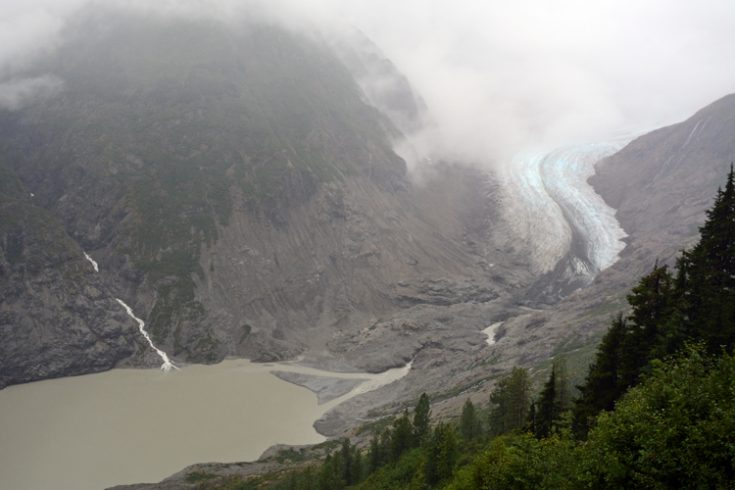 The toe of the Salmon Glacier in Northern British Columbia