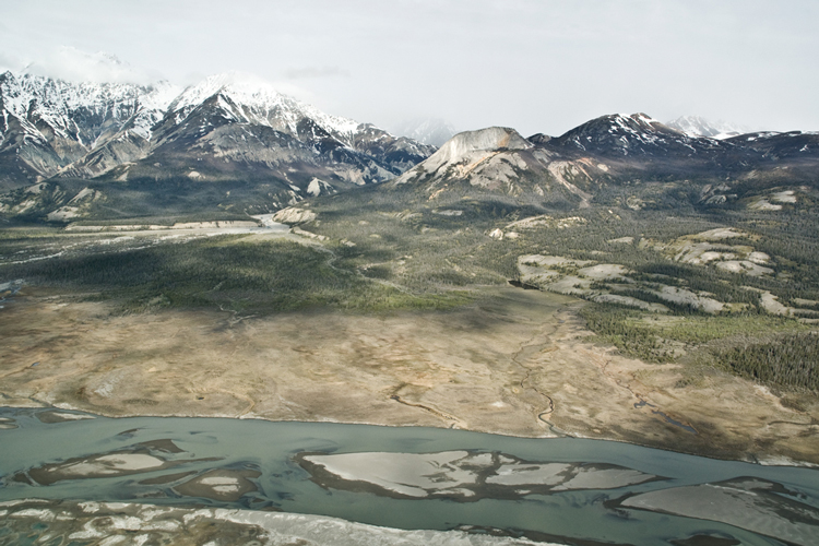 The Slims River Valley in Kluane National Park, Yukon, Canada.