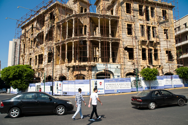 The Beit Beirut Barakat building in Lebanon.