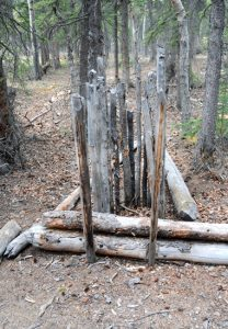 A Native American deadfall trap in Yukon, Canada.