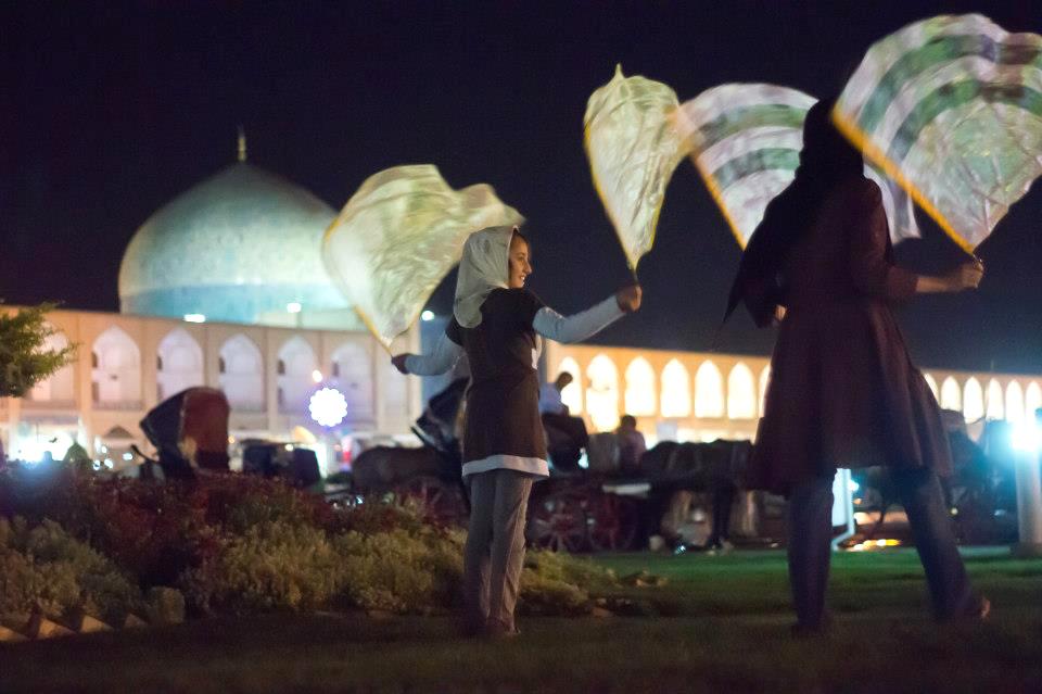 A Rickshaw Circus performance in Esfahan, Iran.