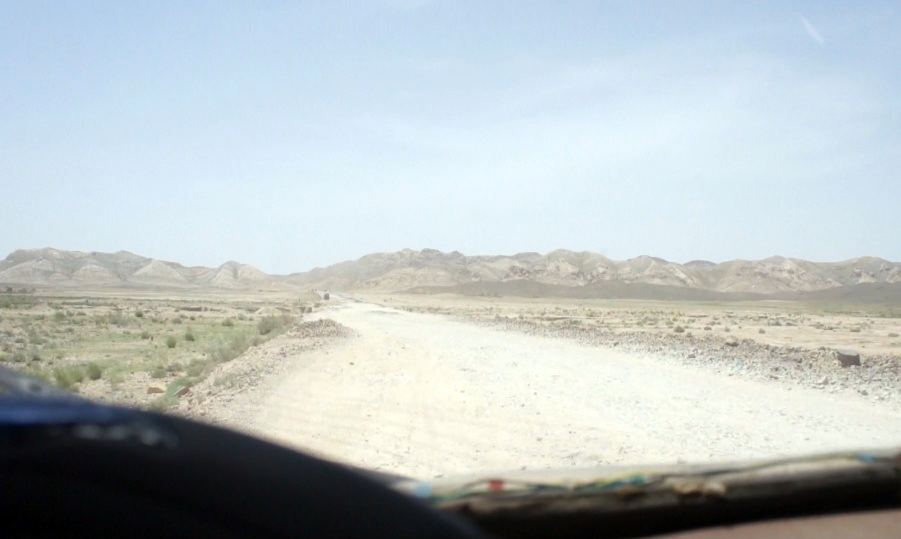 The Rickshaw Circus team travelling through Baluchistan, Pakistan.