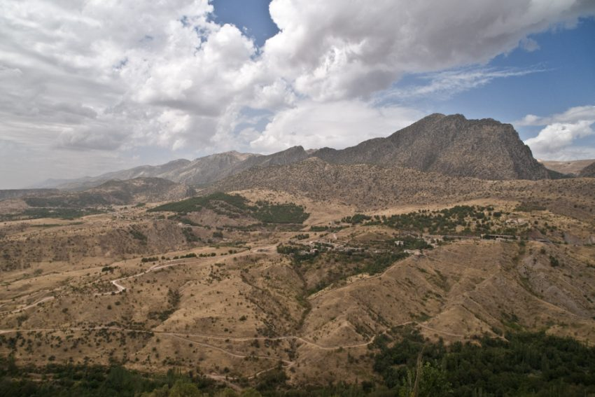 Mountains where the PKK hide out the Turkey-Iraq border near Amedi.