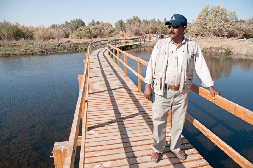 A park warden at the Azraq Wetland Reserve, Jordan © John Zada