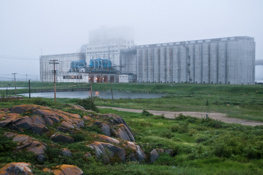 A grain elevator at the port of Churchill, Manitoba, Canada