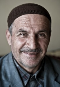 A Kurdish man living in the village of Bahcesaray, Turkey