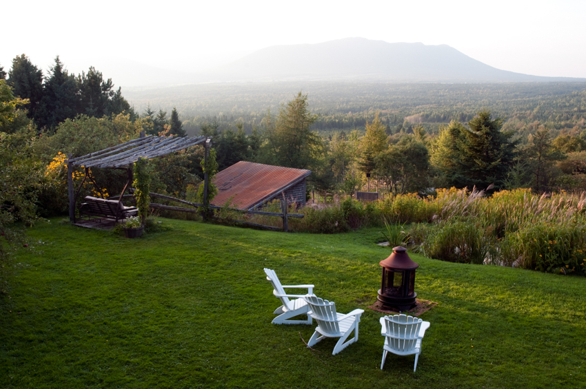 The view from the Au Vaillantbourg B&B in Megantic, Eastern Townships, Quebec, Canada