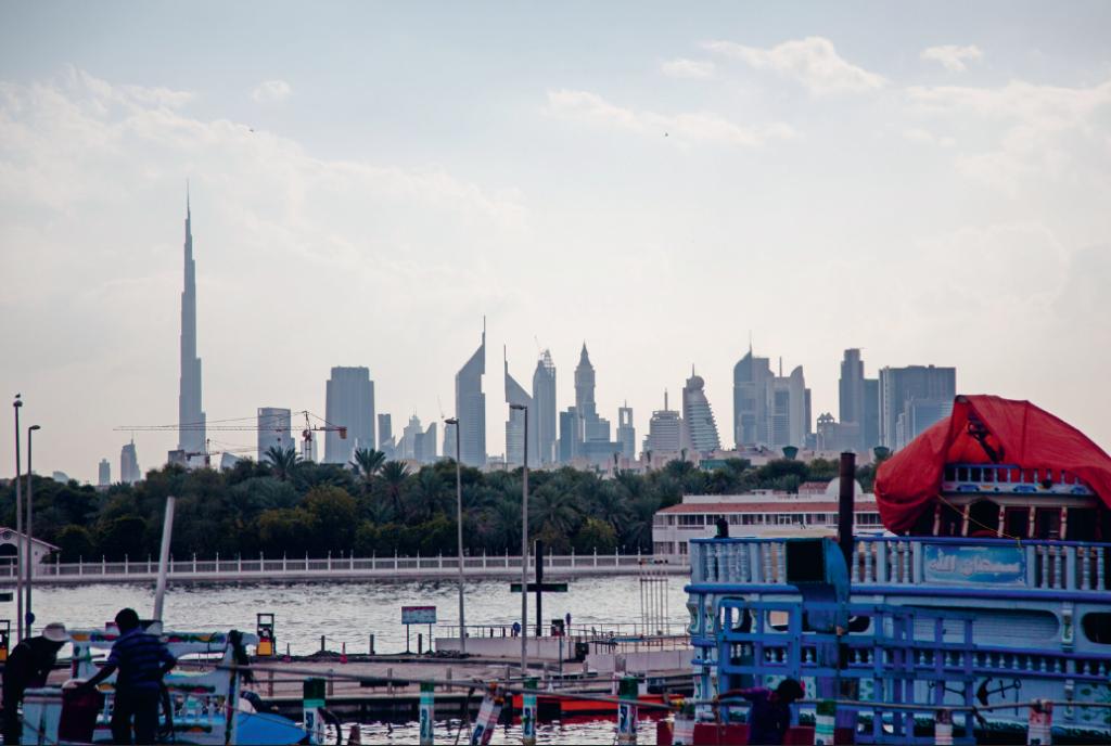 Dhow wharfage in Dubai, UAE