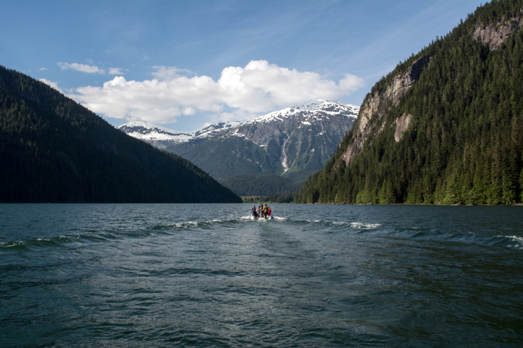 Kitlope Lake, in the Great Bear Rainforest region of British Columbia, Canada