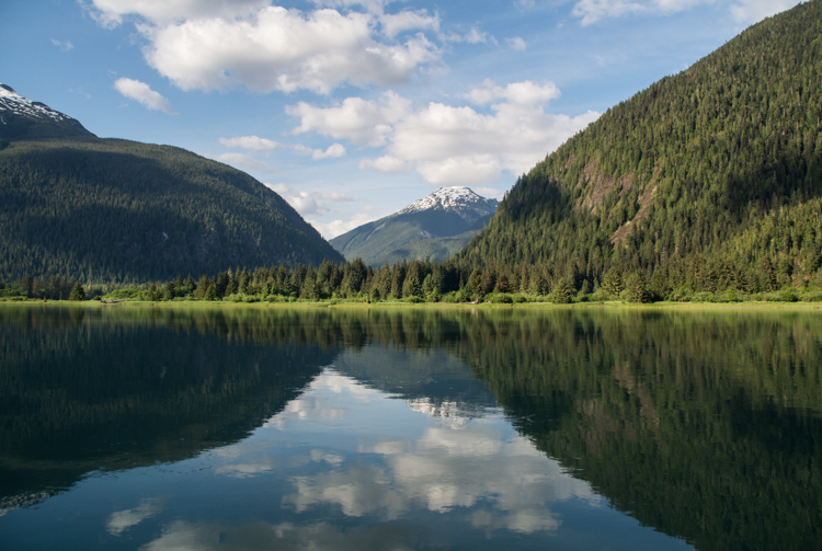 The Kitlope River estuary, in the Great Bear Rainforest region of British Columbia, Canada