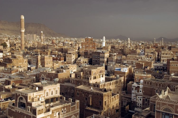 The old medieval city of Sana'a, the capital of Yemen.