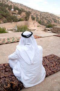 A Yezidi sheikh at Lalish in Northern Iraq.