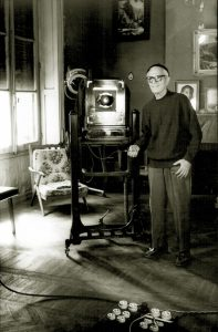 A self-portrait of Van Leo in his apartment in 1997.