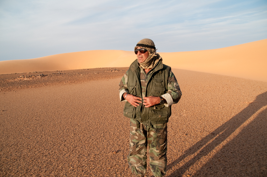 Expedition leader in the Great Sand Sea in Egypt's Western Desert.