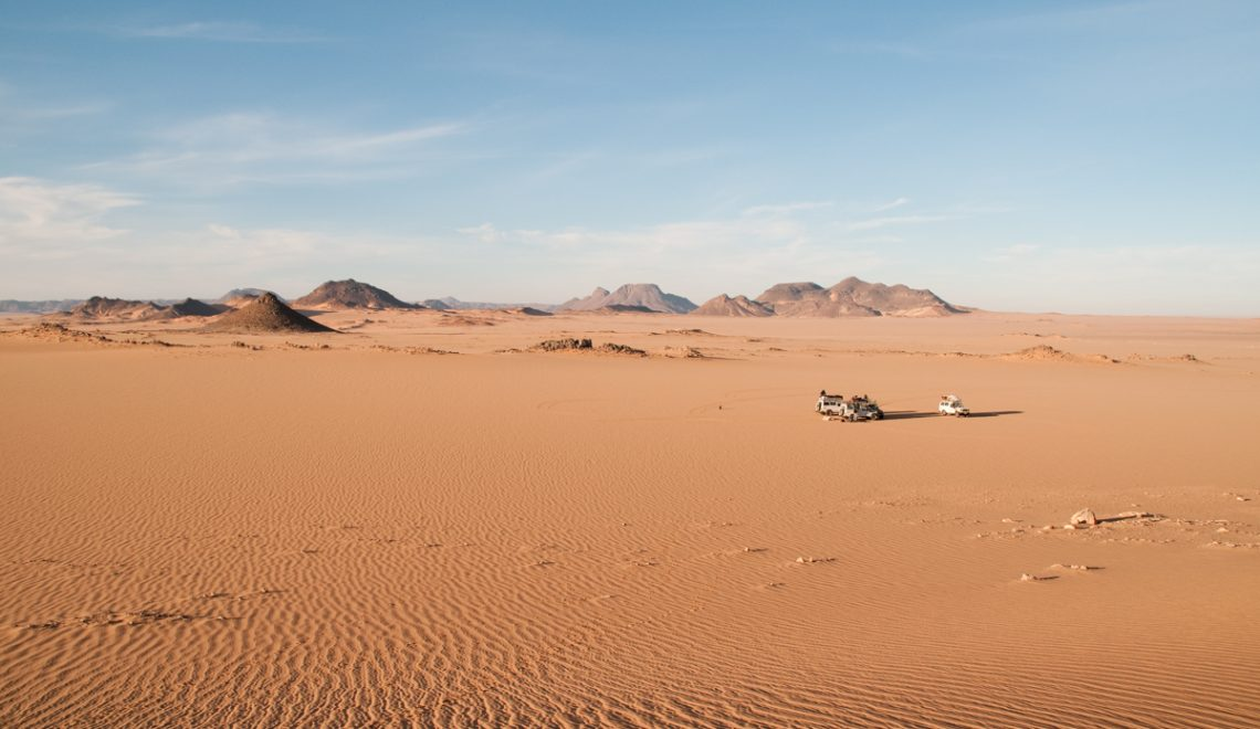 The Uweinat Desert region of the Western Desert of Egypt