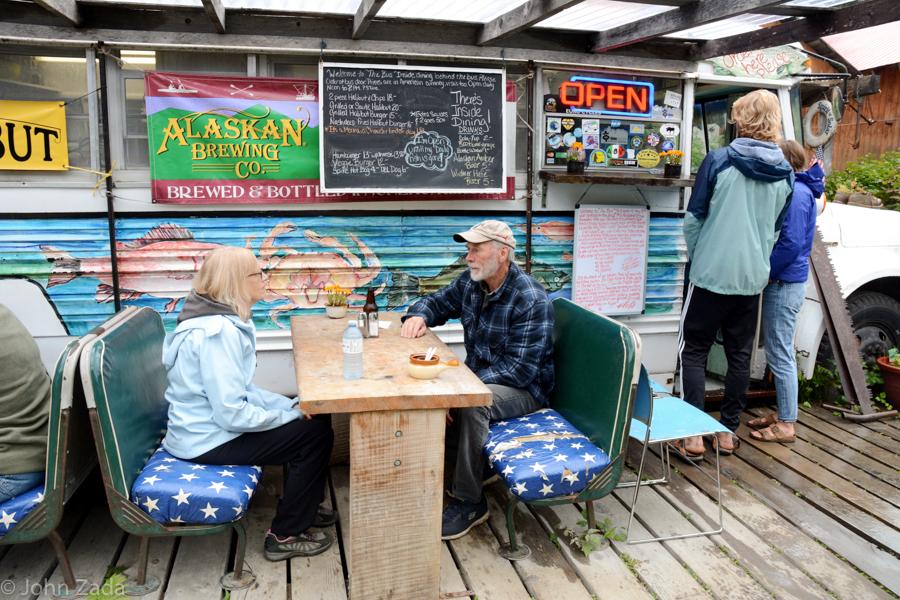 A restaurant in Hyder, Alaska