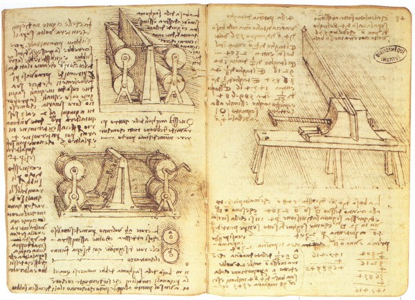 Diagrams of Leonardo Da Vinci