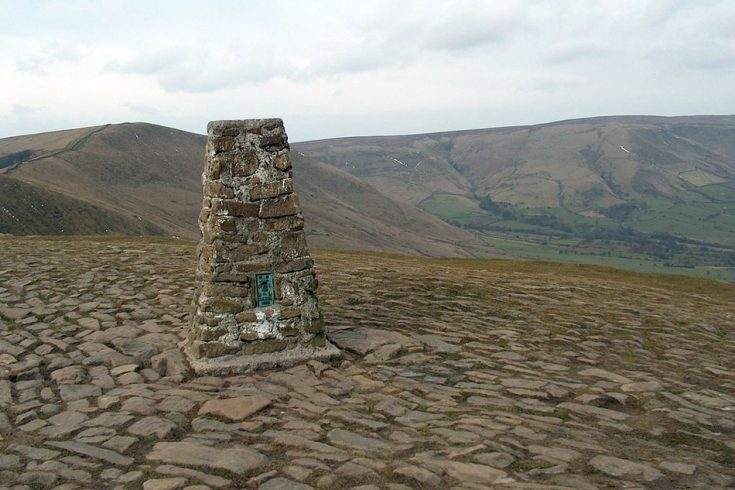 The ancient site of Mam Tor in the United Kingdom