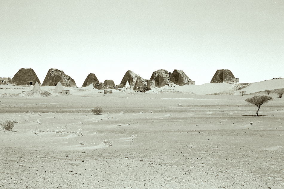 Kushite pyramids at Meroe, Sudan