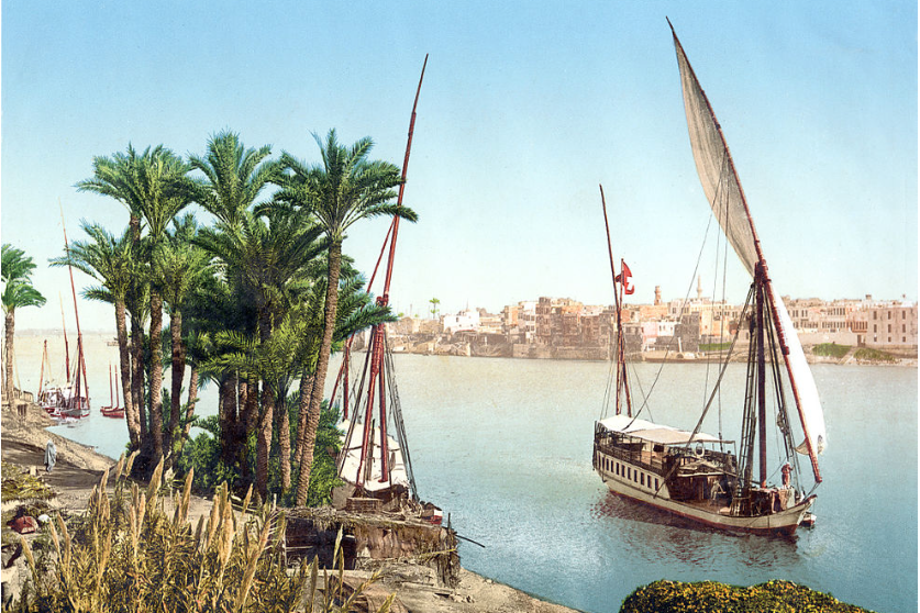 A felucca boat on the Nile River in Egypt